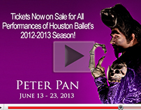 Peter Pan video box for Houston Ballet
