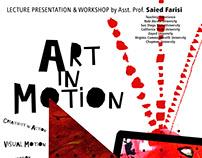 Art in Motion Workshop Moving poster