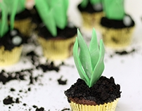 Potted Plant Cupcakes