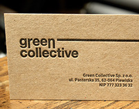 green collective | wizytówki letterpress business cards