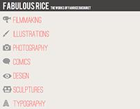 2013-Webdesign of the FabulousRice website