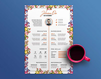 Free Flower Resume Template