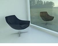 Sala de descanso - 3D Render