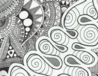 pen drawings.