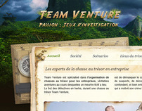 Web design for Team Venture