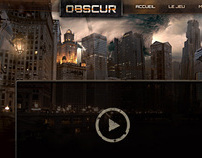 Obscur : web design for a tutorial