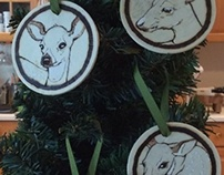 Deer Ornaments!