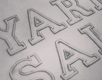 """Yard Sale"" - Lettering project"