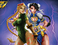 Cammy and Chun Li