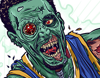 "Stephen Curry ""The Zombie Sniper"""
