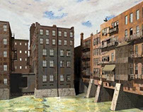 Painting Recreation - Rochester Main Street Bridge