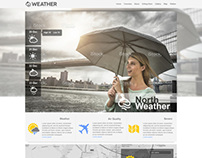 Weather web Design