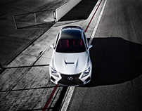 LEXUS RC/F on racetrack