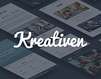 Kreativen - Responsive Creative Wordpress Theme