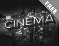 Cinema text effect free