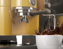 Vintage 3D Coffee Machine