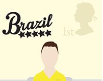 World Cup Brazil Stamp