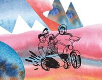 Illustrations for Сalendar 2014. Work for AFG