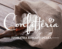 Logo, photo and design catalog for confectionery.