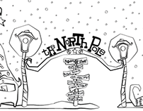 The North Pole Coloring Page