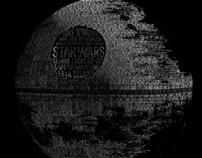 Death Star Typography Illustration