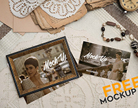 Retro Photo Frame – Free PSD Mockup