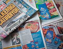 Anzeigen für den Lebensmittelhandel