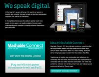 Idea Mashable Connect landing page