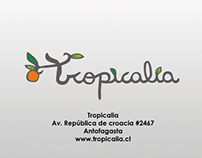 Tropicalia, catalogo de jugos naturales.