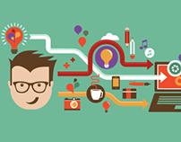 Design, creative & idea infographic