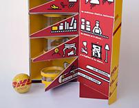Packaging promocional-institucional para DHL