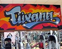 Tüvana gym indoor graffiti