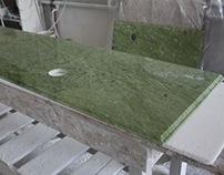 Tische aus Verde Ming Marmor