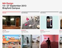 MA Design Show Website Designs