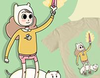 Ilustración para concurso de remeras de Bee & Puppycat