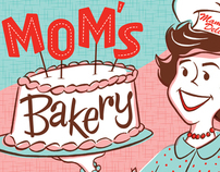 MOM'S BAKERY Illustration for Mother's Day Products