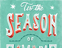 Holiday Lettering and Illustration