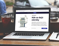 Website for local printing company