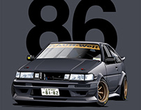 """Real of the World"" TOYOTA COROLLA AE86 by Nojima"