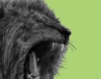 it's a lion...