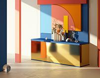 Comb-vase showroom concept