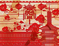 Tua Peh Kong Chinese temple / Digital Art