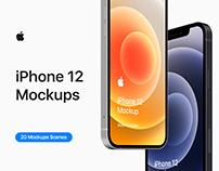 iPhone 12 - 20 Mockups Scenes - PSD