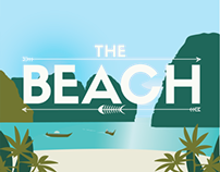 Art Deco Emulation Poster for the movie The Beach