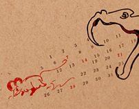Illustrated Calendar: Year of the Snake