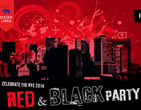 Web Banner for Red & Black Party