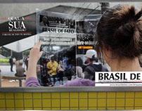 Propaganda for newspaper Brasil de Fato
