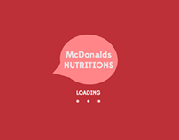 McDonalds Nutrition Interactive Infographic