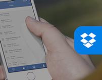 Dropbox - iOS7 Redesign