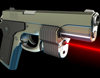 """Falcon 2"" Handgun - Autodesk Maya"